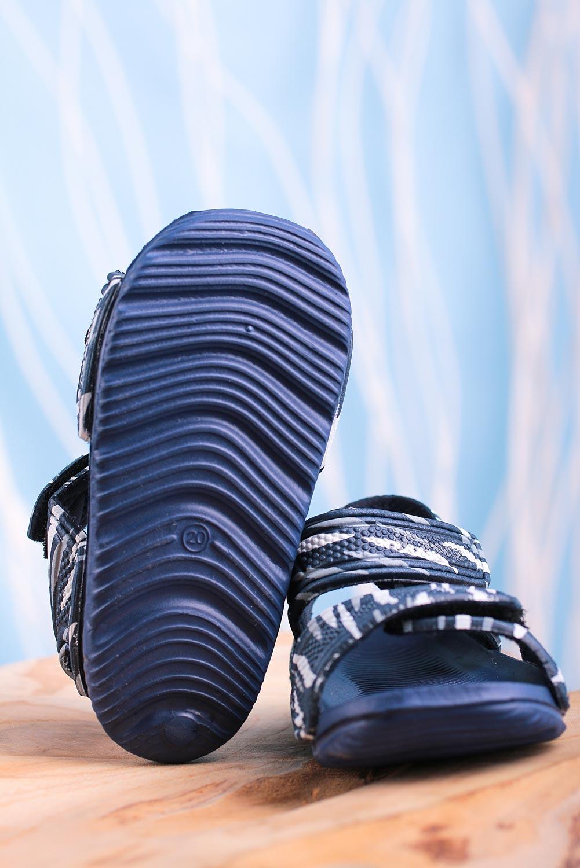 Granatowe sandały niemowlęce niechodki na rzepy Casu 6320-1 granatowy