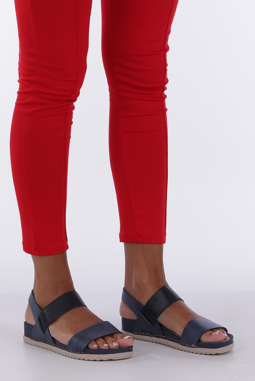 Granatowe sandały płaskie z gumką Casu F19X3/N sezon Lato