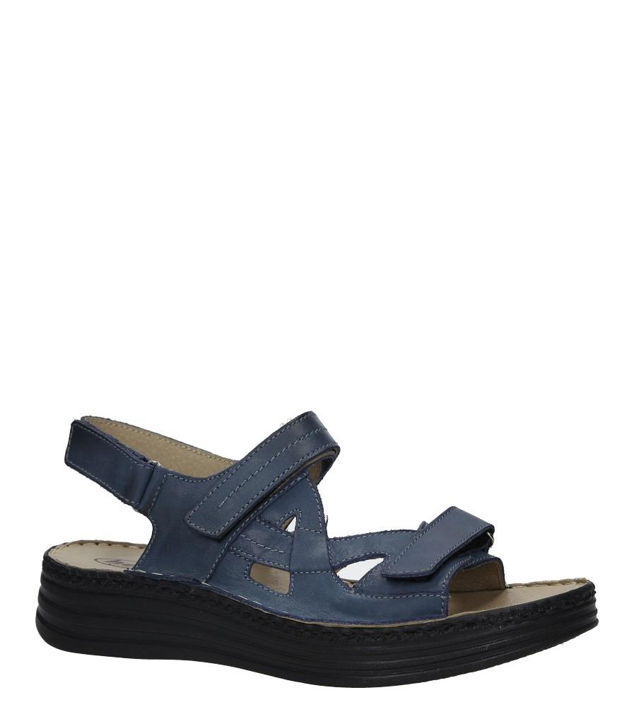 Granatowe sandały skórzane na platformie Helios 239