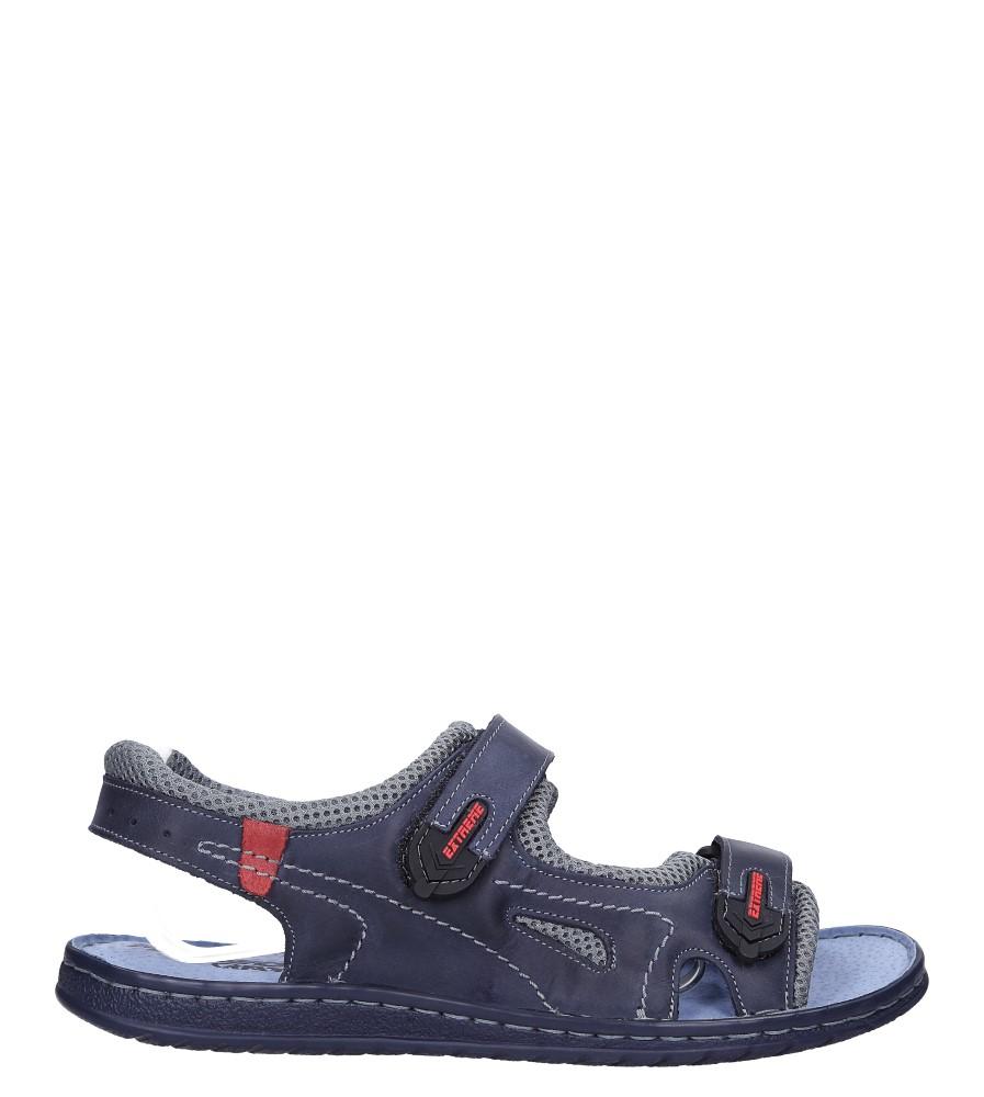 Granatowe sandały skórzane na rzepy Windssor 764