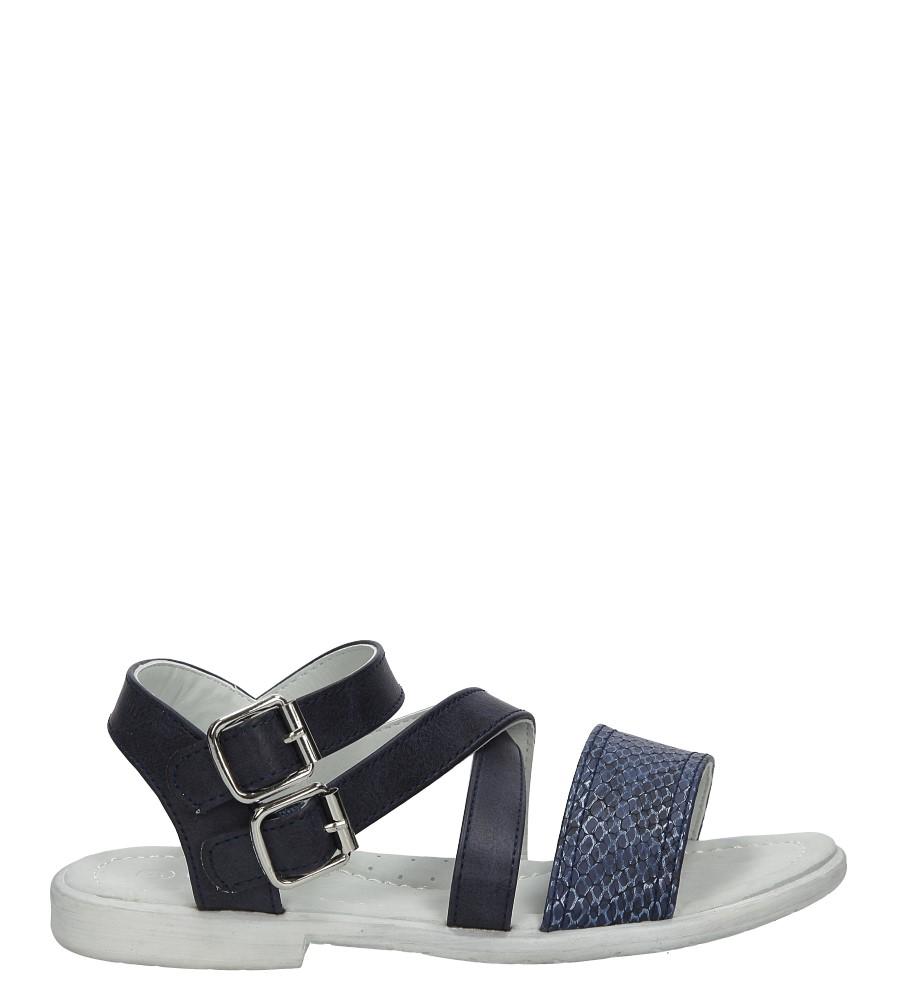 Granatowe sandały z klamrami Casu D-526