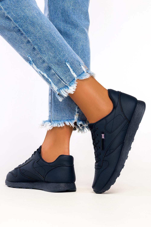 Granatowe sneakersy Casu buty sportowe sznurowane 1789-5 granatowy