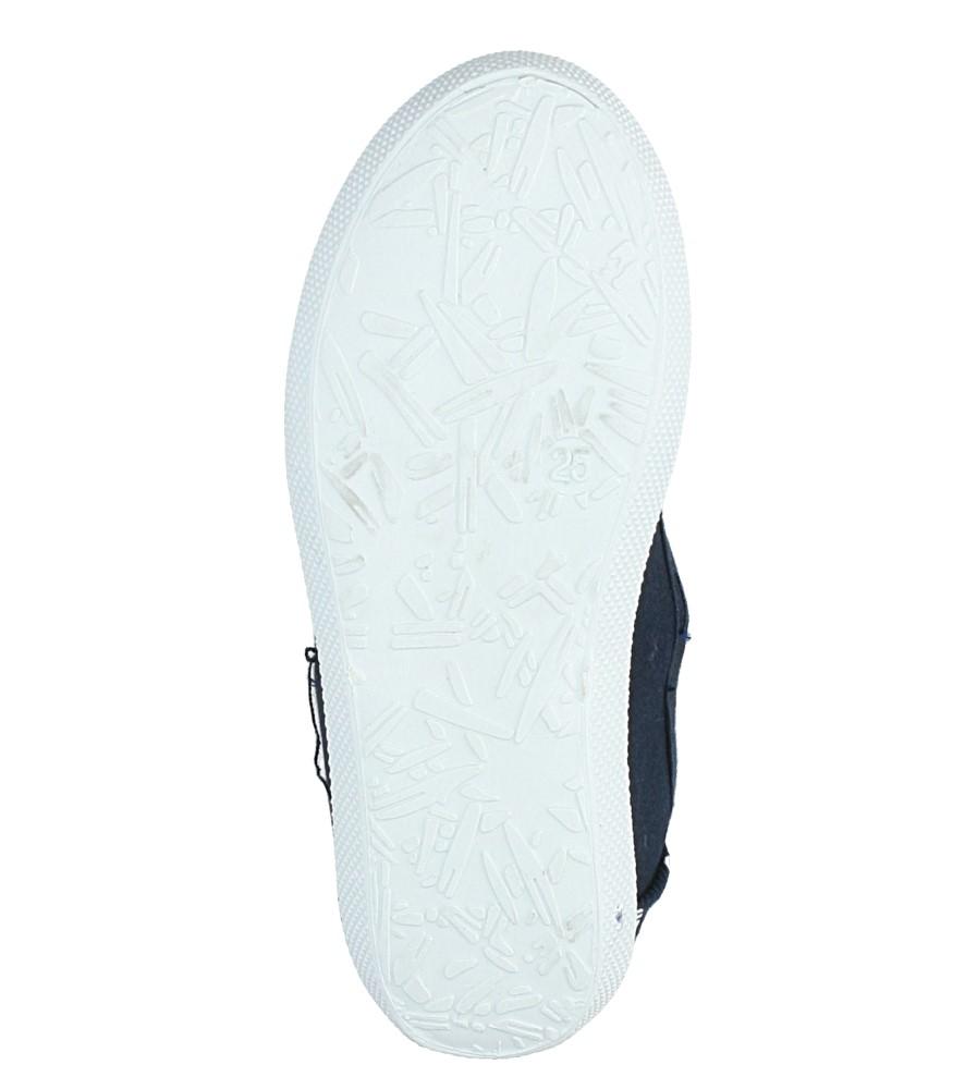 Granatowe tenisówki Casu HT09-01D wys_calkowita_buta 5 cm