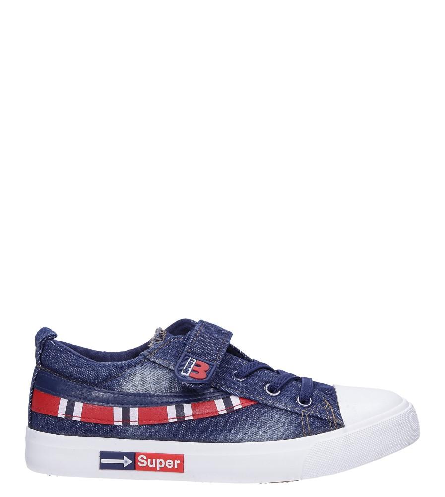 Granatowe trampki jeansowe Casu A6055