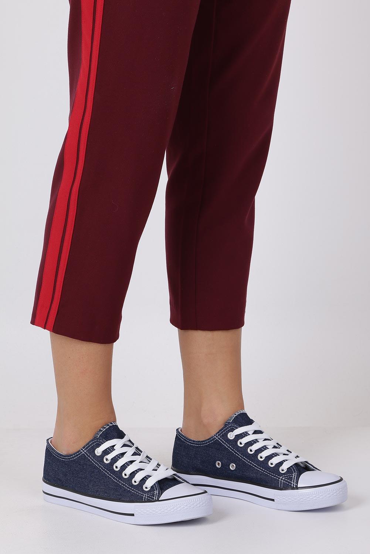 Granatowe trampki jeansowe sznurowane Casu DD822B-40
