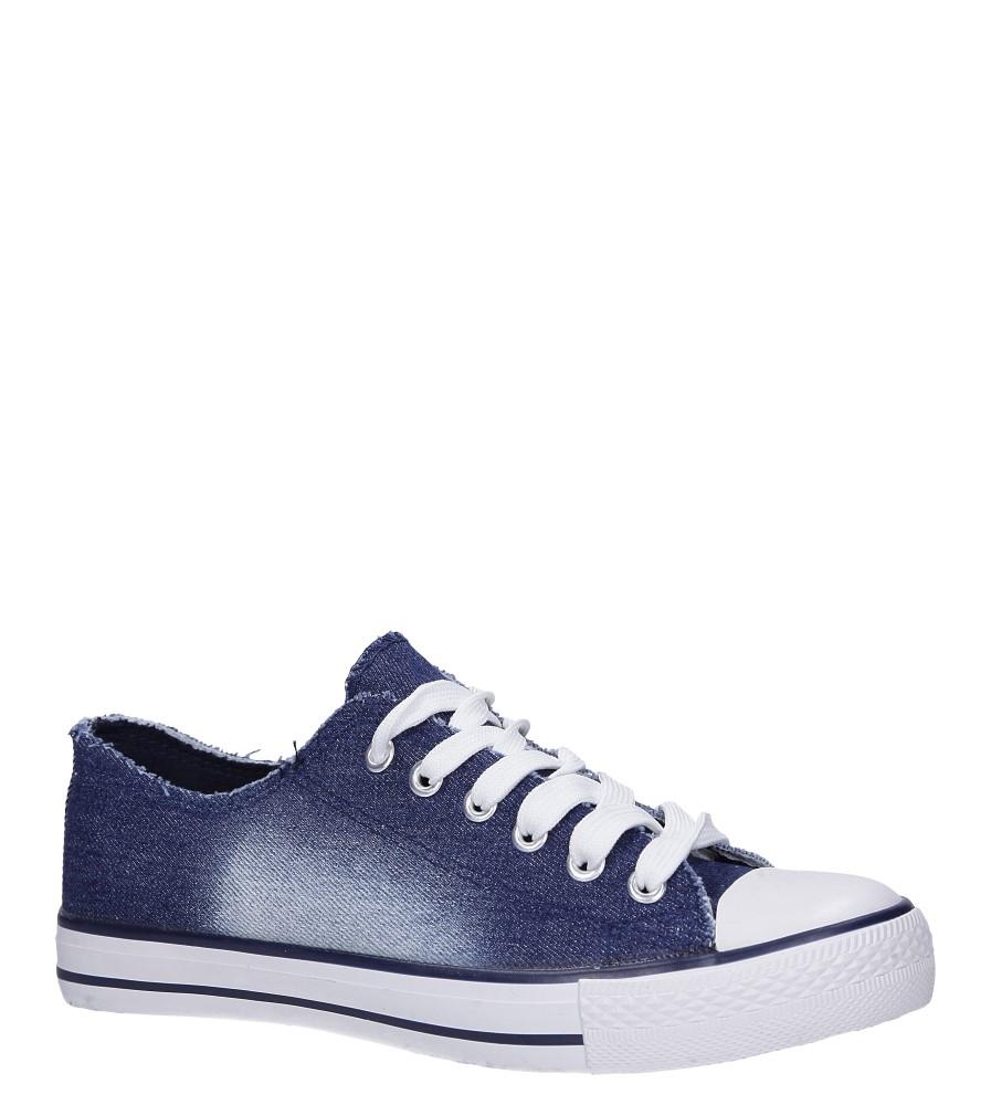 Granatowe trampki jeansowe sznurowane Casu DD8239-7