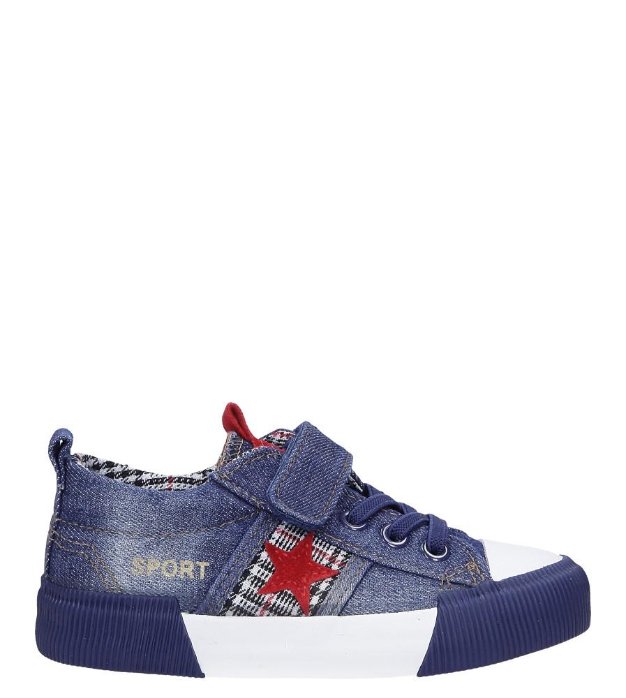 Granatowe trampki jeansowe z gwiazdą Casu B6033