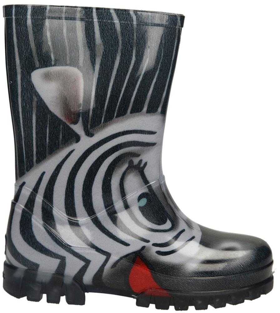 Dziecięce Kalosze Demar Twister Print 0037S czarny;biały;czerwony