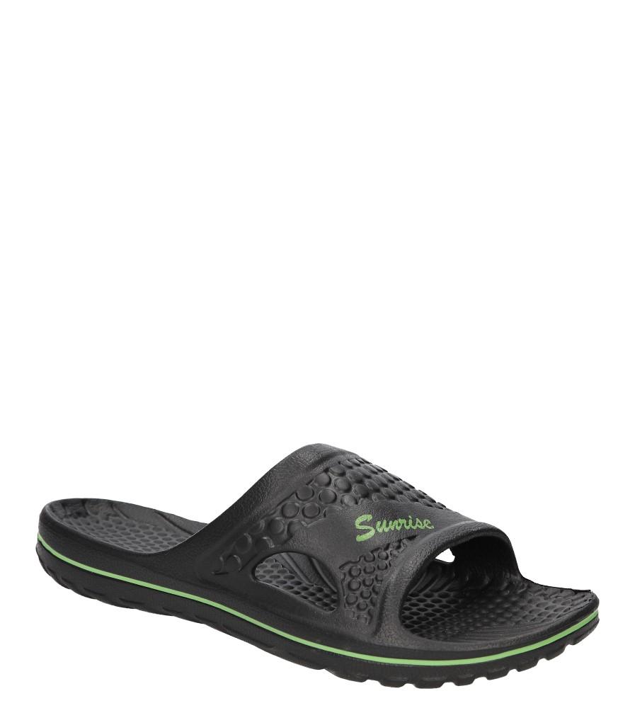 Męskie Klapki Casu 813 czarny;zielony;