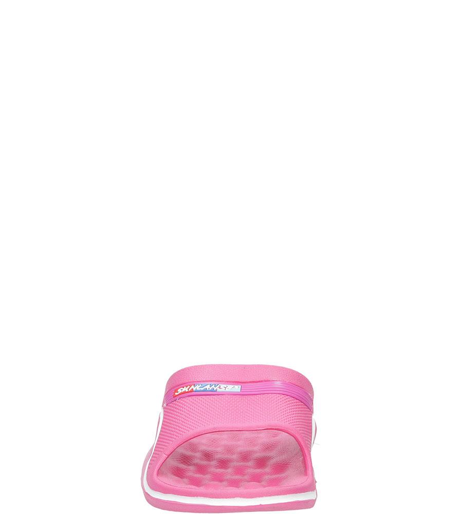 Klapki Casu H609 kolor biały, ciemny różowy