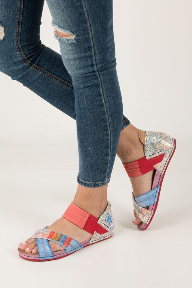 Kolorowe sandały skórzane Maciejka 03375-38/00-5 multi kolor
