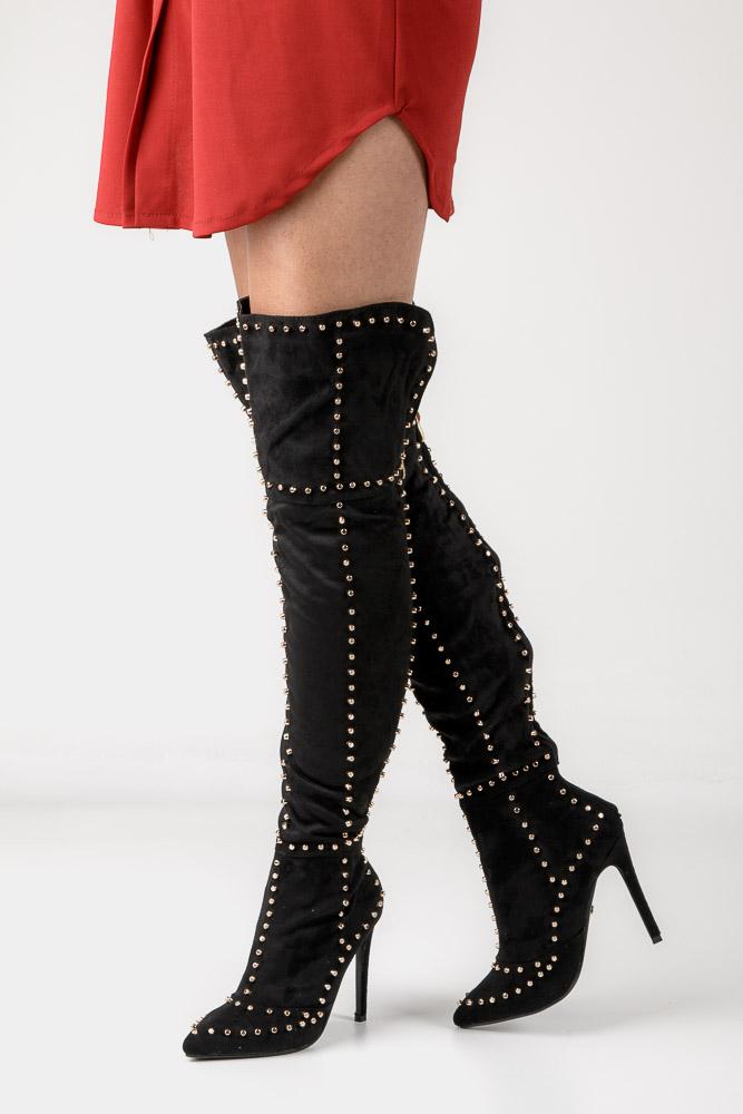 Kozaki za kolano z ćwiekami Casu ST2725