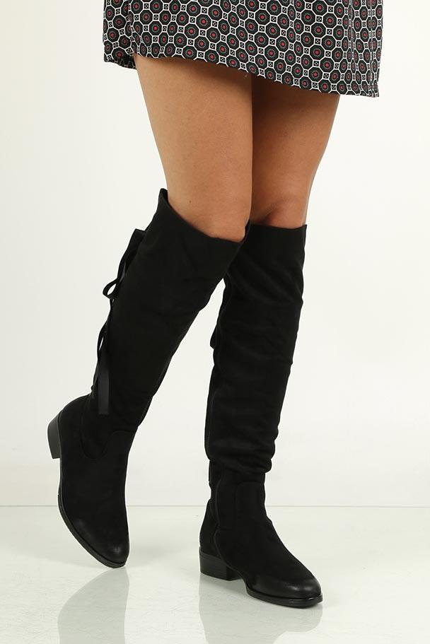 Kozaki za kolano ze wstążką S.Barski 80136 wys_calkowita_buta 52 cm