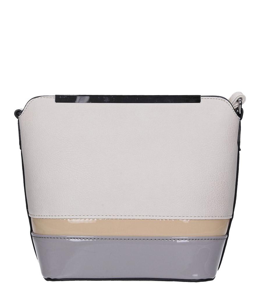 Kremowa torebka mała z metalową ozdobą Casu A6871