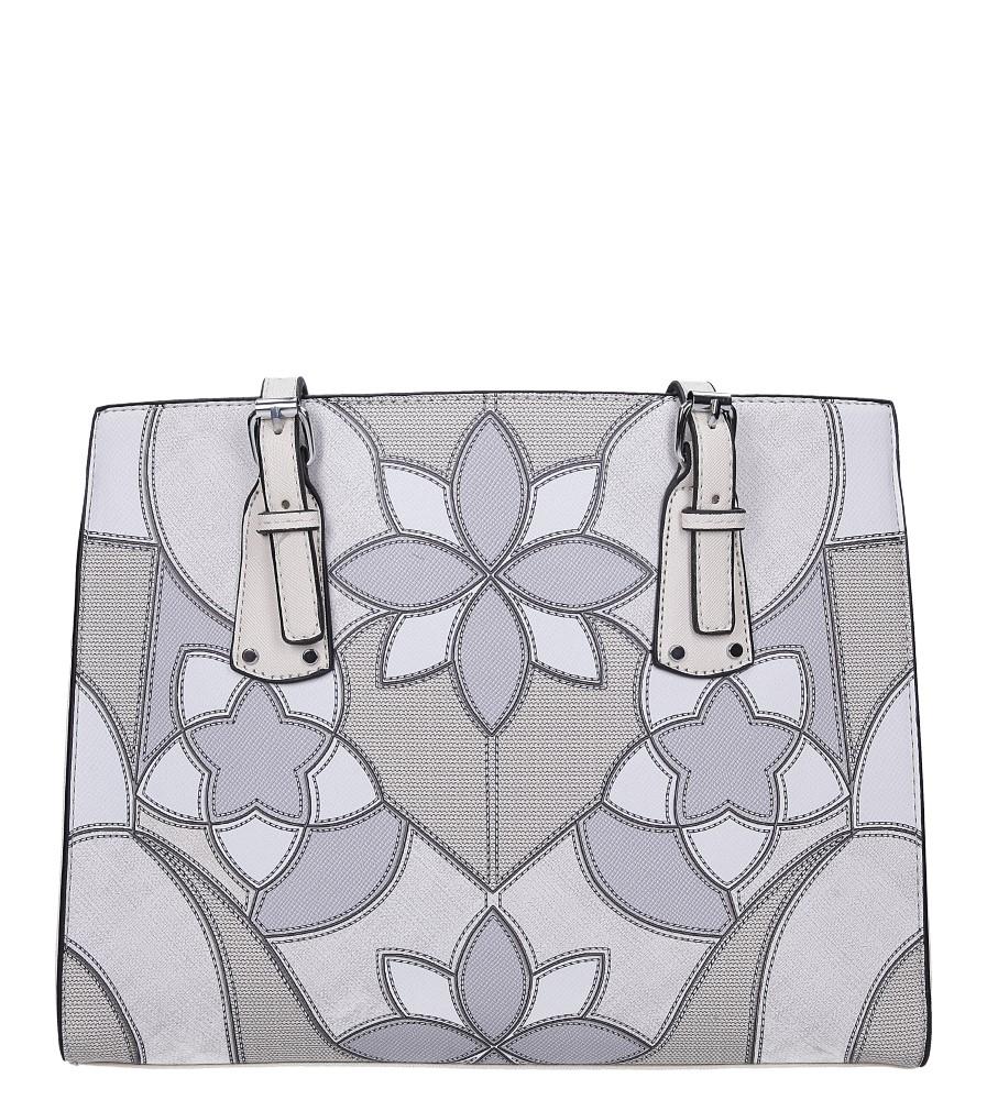 Kremowa torebka w kwiaty Casu AD-35