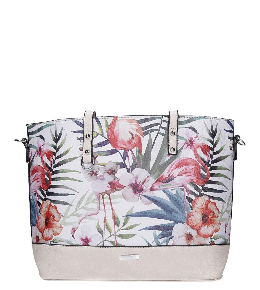 Kremowa torebka w kwiaty Casu AD-39