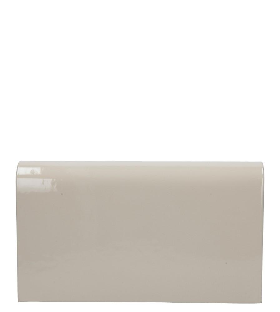 Kremowa torebka wizytowa lakierowana Casu M01A