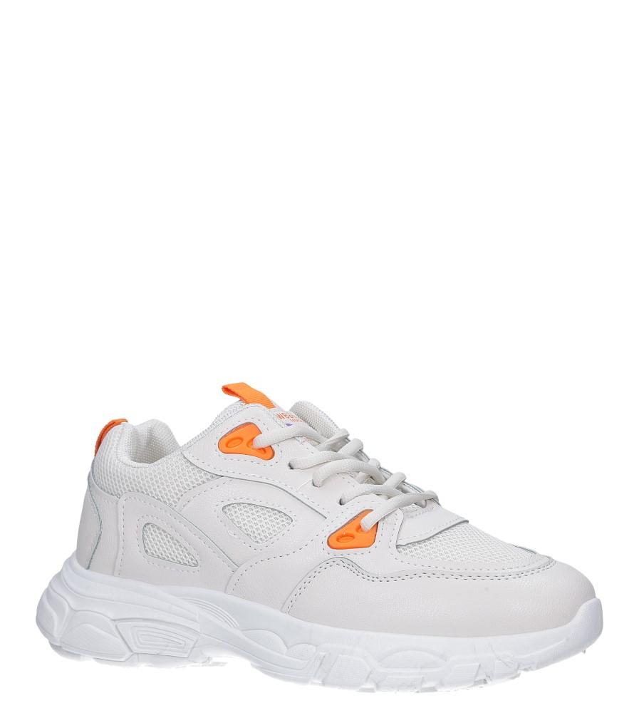 Kremowe buty sportowe sneakersy sznurowane Casu 806-1 kremowy