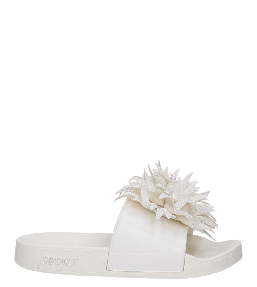 Kremowe klapki z kwiatkiem Casu 236