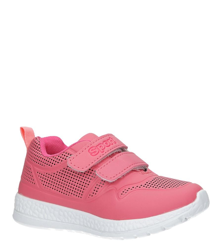 Malinowe buty sportowe na rzepy Casu A2803-22