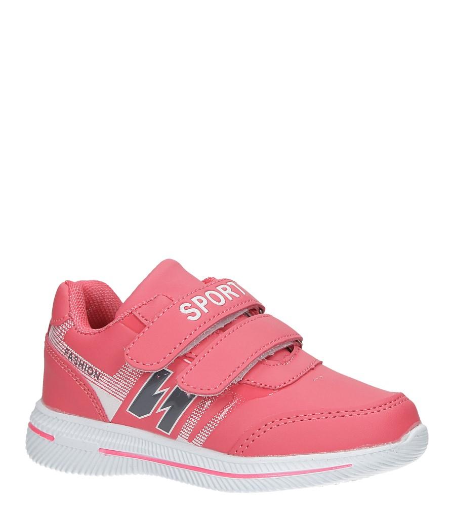 Malinowe buty sportowe na rzepy Casu A2857-22