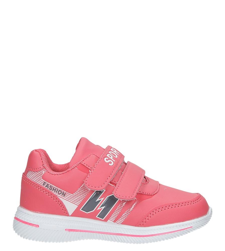 Malinowe buty sportowe na rzepy Casu A2857-22 model A2857-22