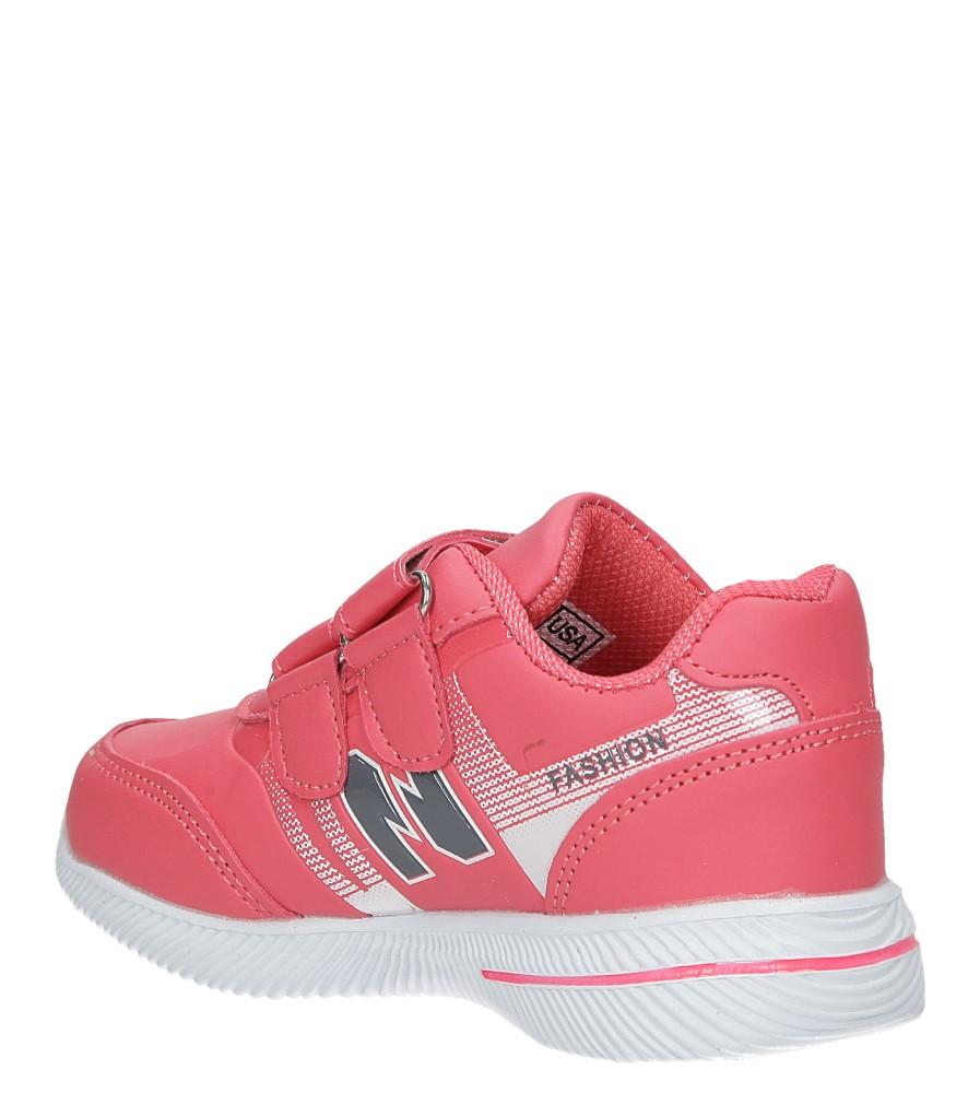 Malinowe buty sportowe na rzepy Casu A2857-22 sezon Całoroczny