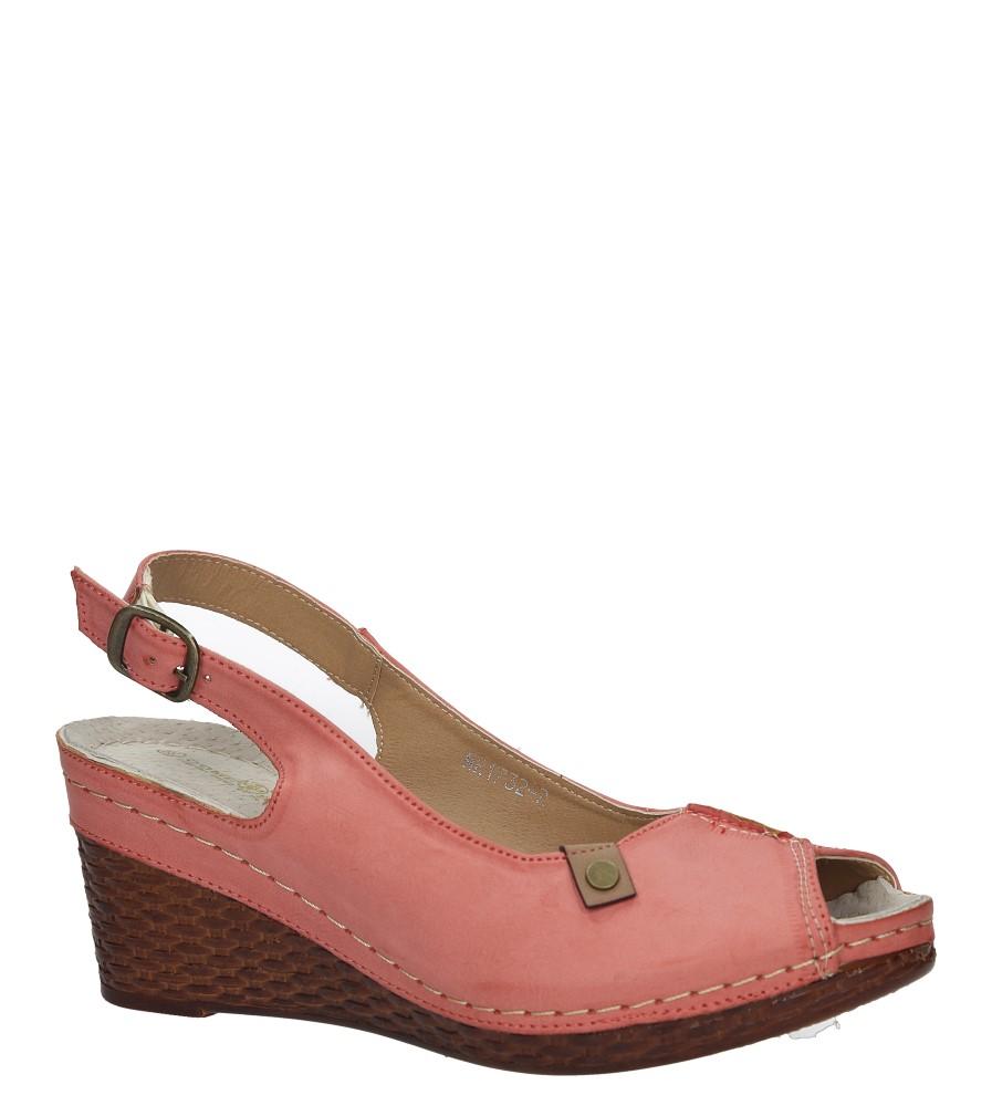 Malinowe sandały na koturnie Jezzi MR1732-2 malinowy