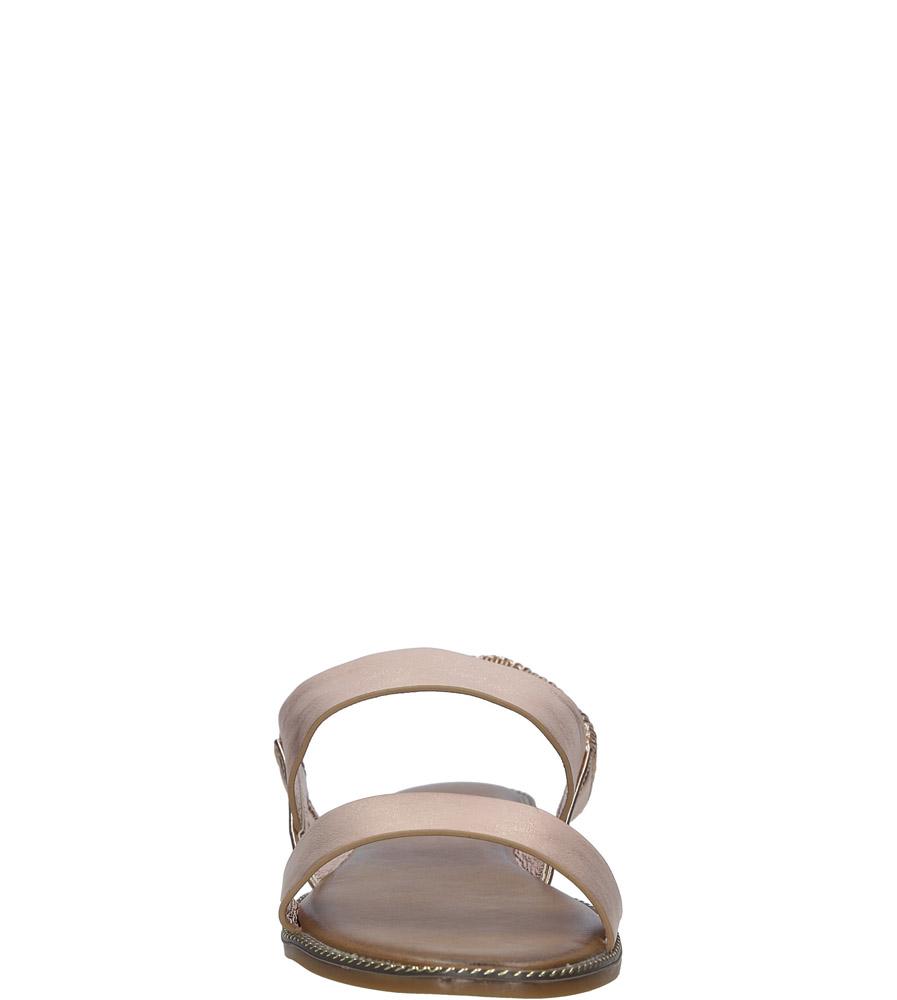 Miedziane sandały płaskie Casu 99-43 kolor miedziany