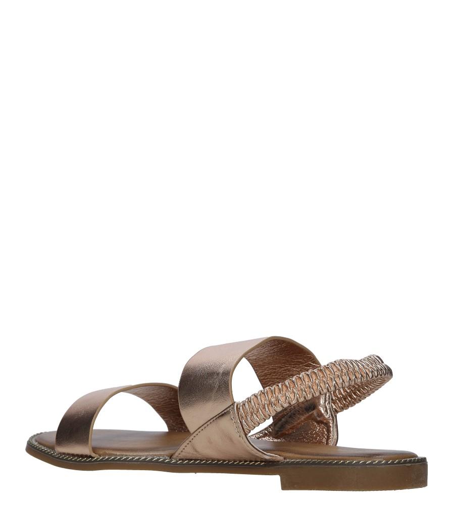 Miedziane sandały płaskie Casu 99-43 wysokosc_obcasa 1.5 cm