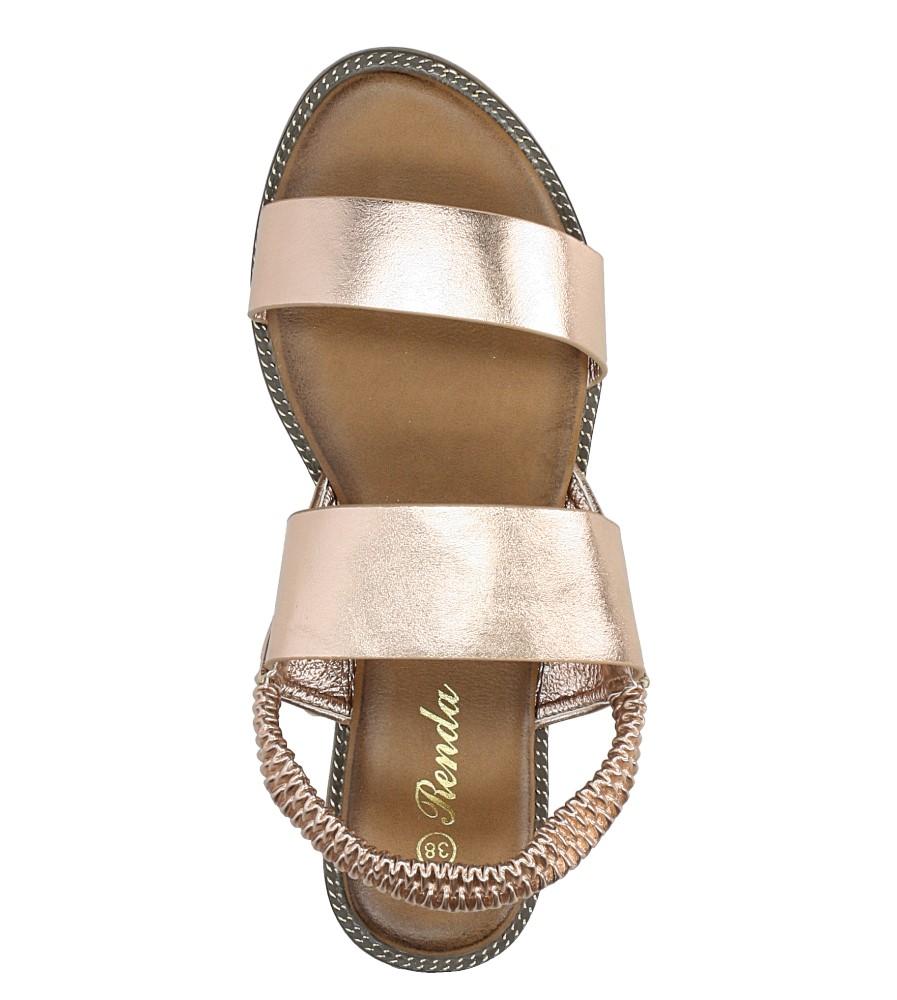 Miedziane sandały płaskie Casu 99-43 wysokosc_platformy 1 cm
