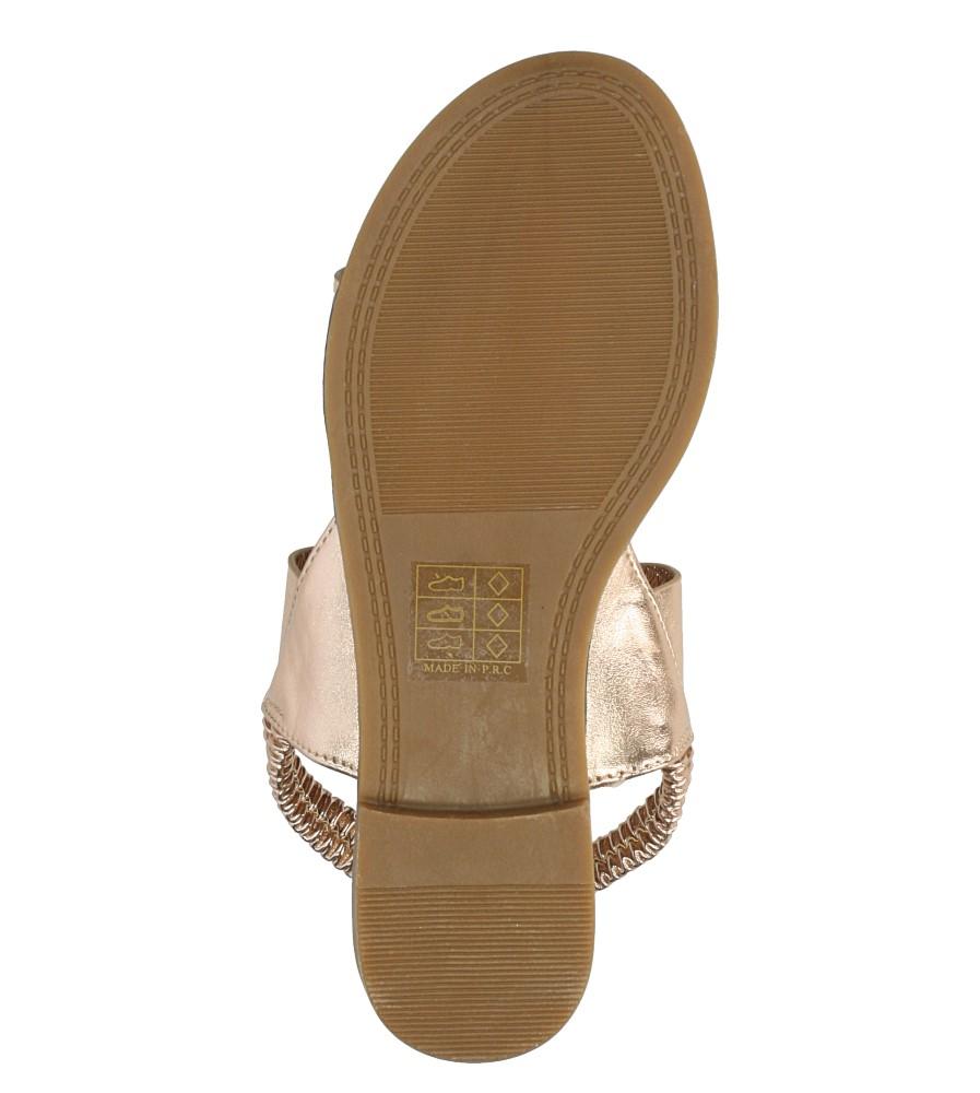 Miedziane sandały płaskie Casu 99-43 wys_calkowita_buta 8 cm