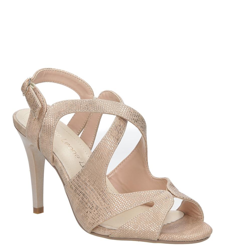 Miedziane sandały szpilki błyszczące Sergio Leone SK813-14S