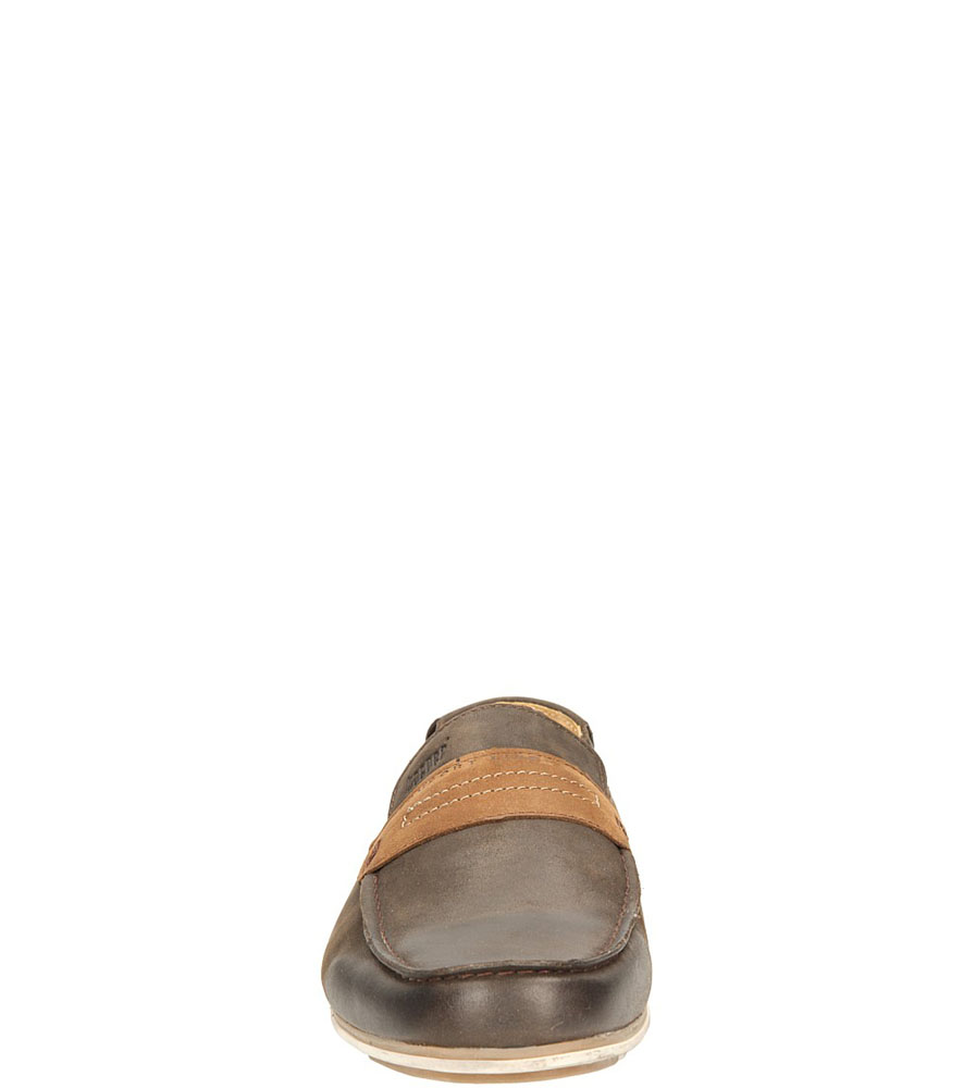 MOKASYNY KACPER 1-6000 kolor brązowy, ciemny brązowy
