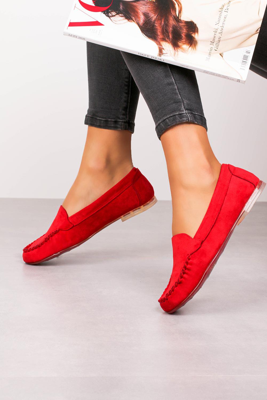 Mokasyny Sergio Leone czerwone MK722 czerwony
