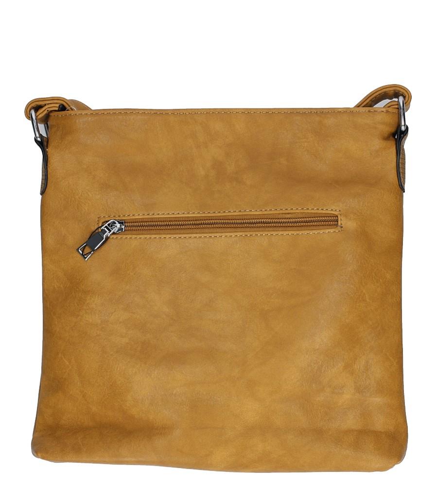 Musztardowa torebka listonoszka z metalową ozdobą Casu D54 sezon Całoroczny