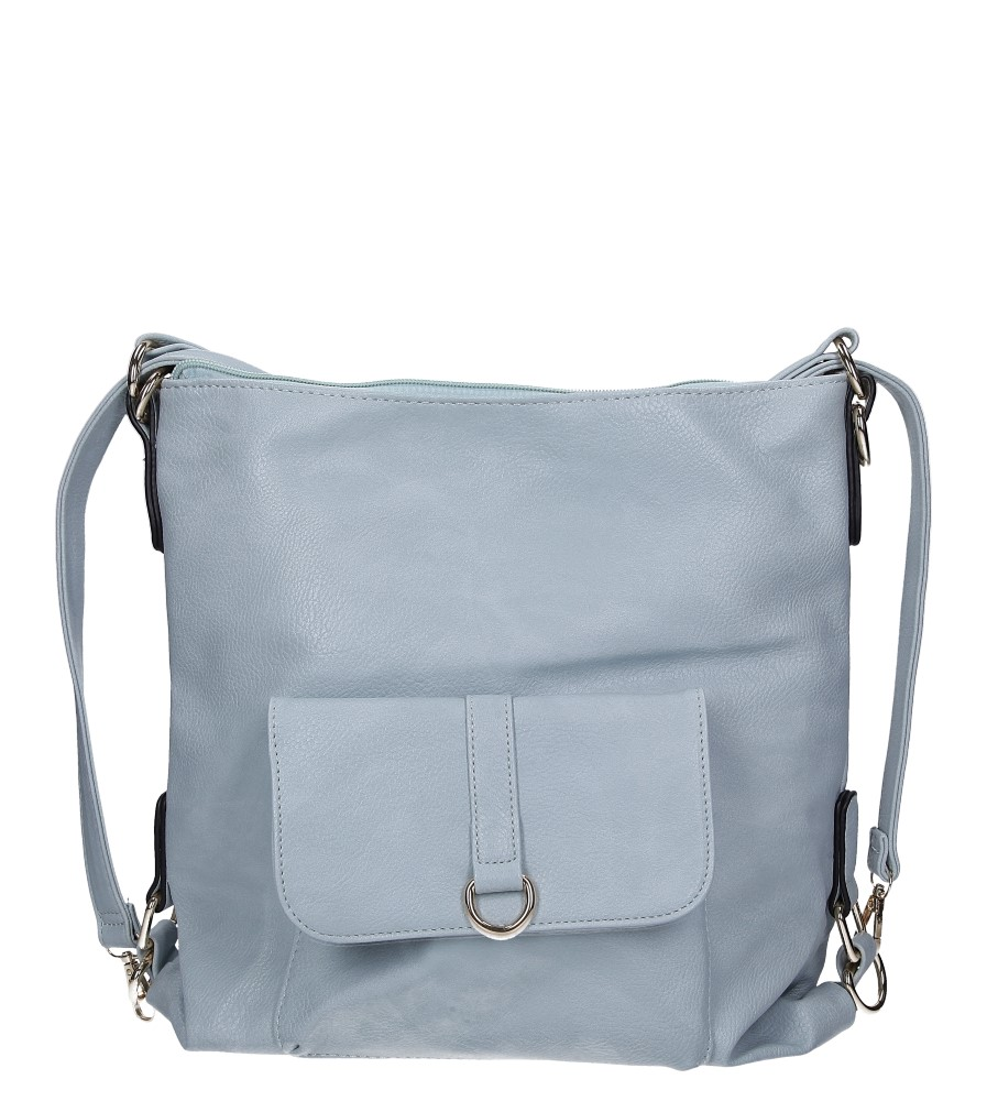 Nibieska torebka z kieszonką z przodu Casu AE-85