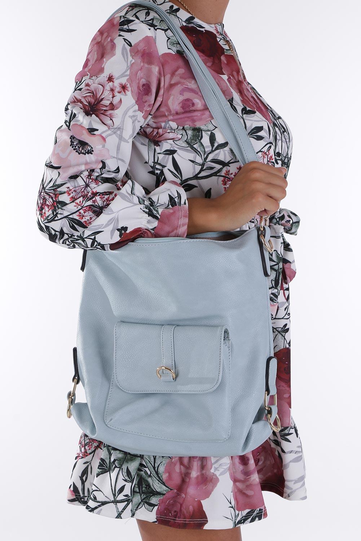 Nibieska torebka z kieszonką z przodu Casu AE-85 sezon Lato