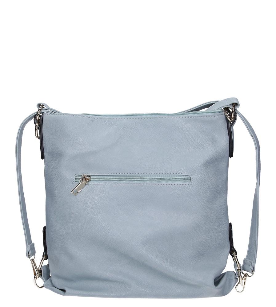 Nibieska torebka z kieszonką z przodu Casu AE-85 kolor jasny niebieski