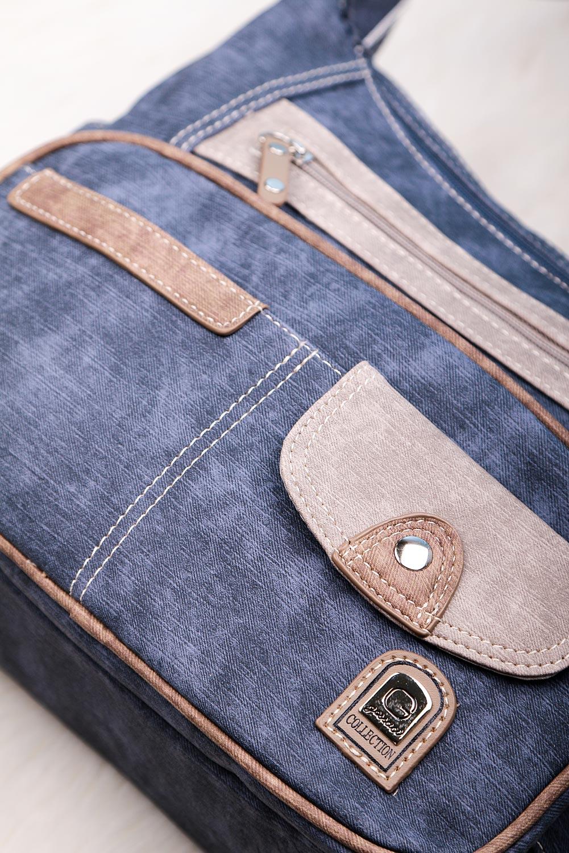 Niebieska torebka Casu z kieszonką z przodu DS2010