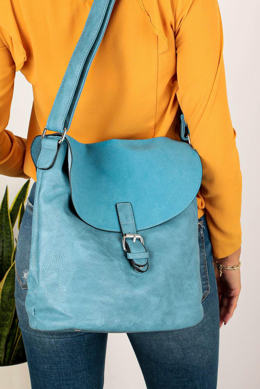 Niebieska torebka listonoszka Casu K-60