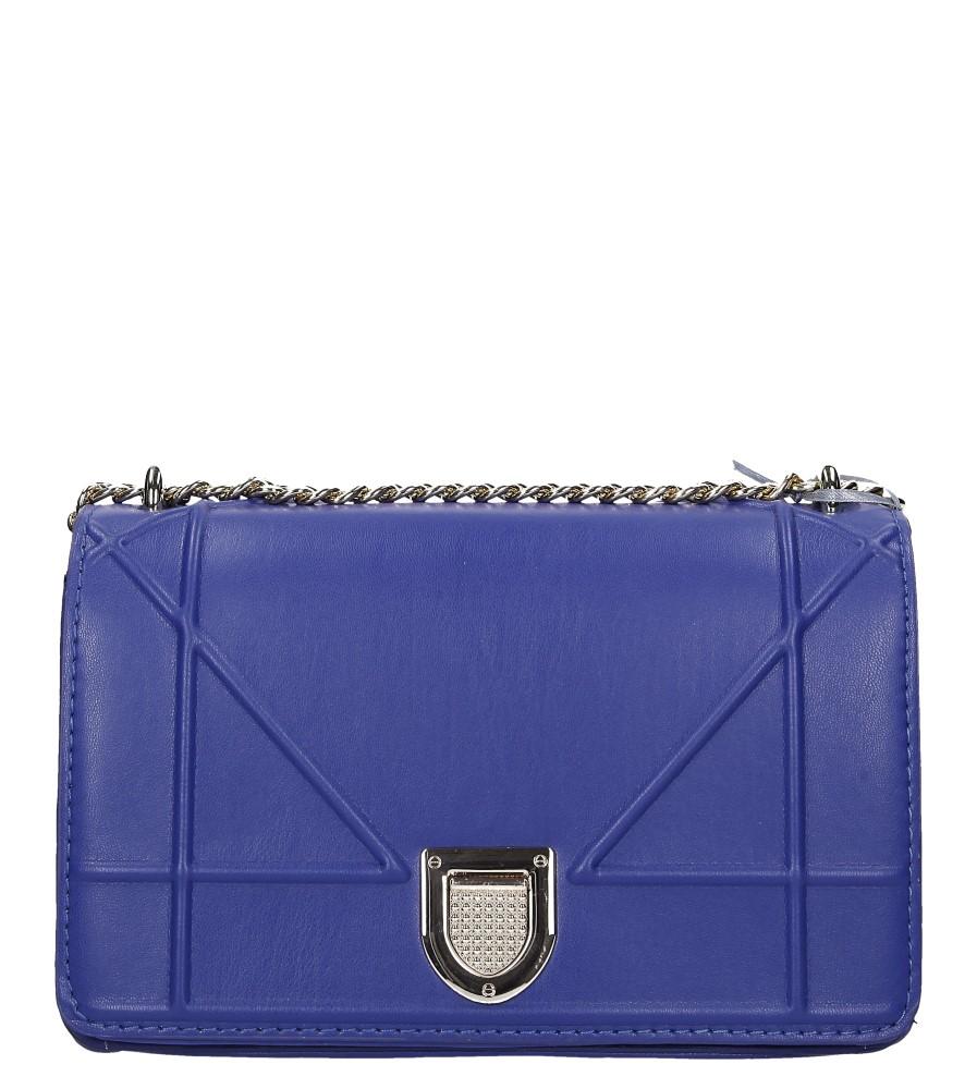 Niebieska torebka mała na łańcuszku Casu 2981-BB