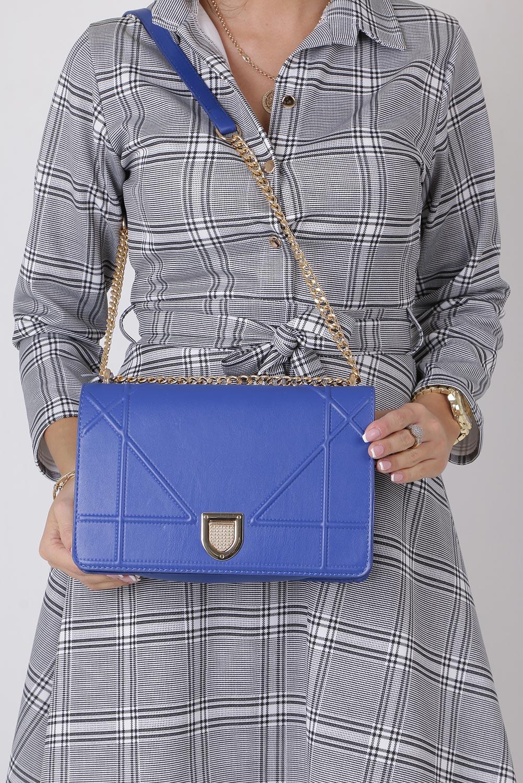 Niebieska torebka mała na łańcuszku Casu 3021-BB producent Casu
