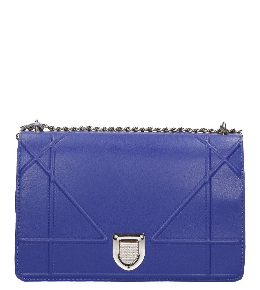 Niebieska torebka mała na łańcuszku Casu 3021-BB