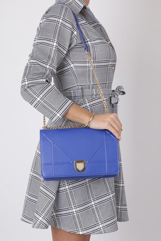 Niebieska torebka mała na łańcuszku Casu 3021-BB sezon Całoroczny