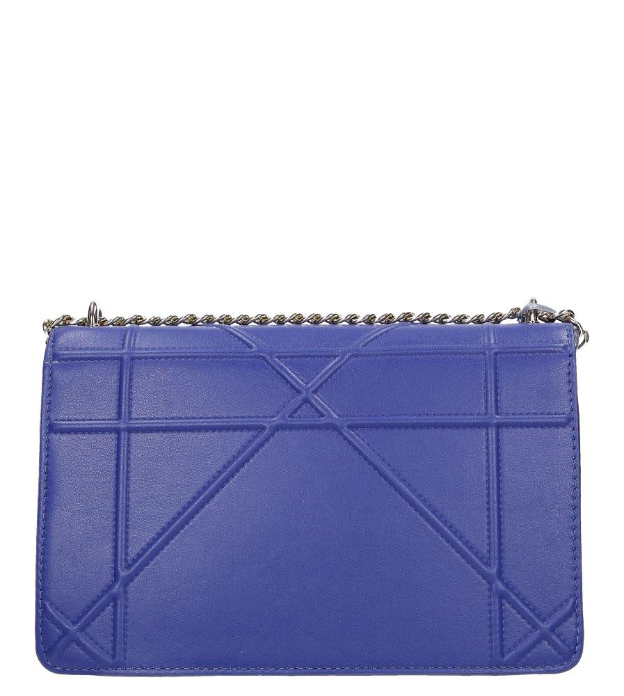 Niebieska torebka mała na łańcuszku Casu 3021-BB kolor ciemny niebieski