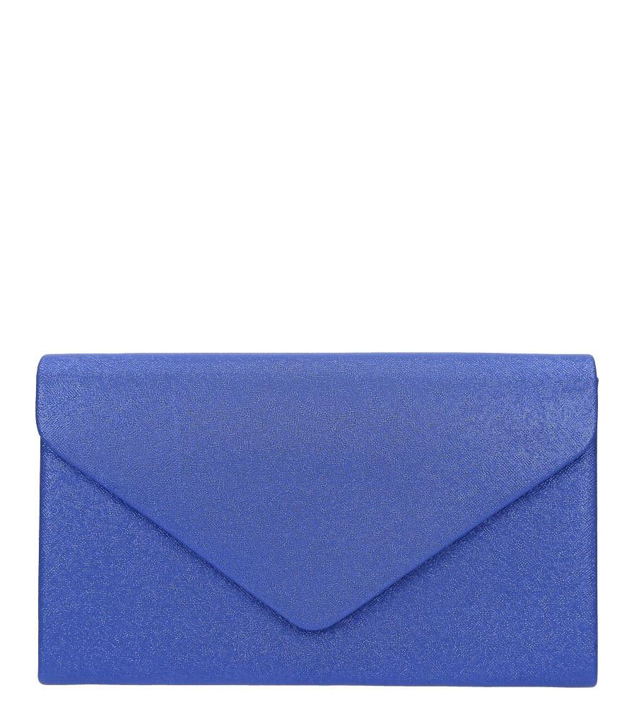 Niebieska torebka wizytowa błyszcząca na łańcuszku Casu AD-79