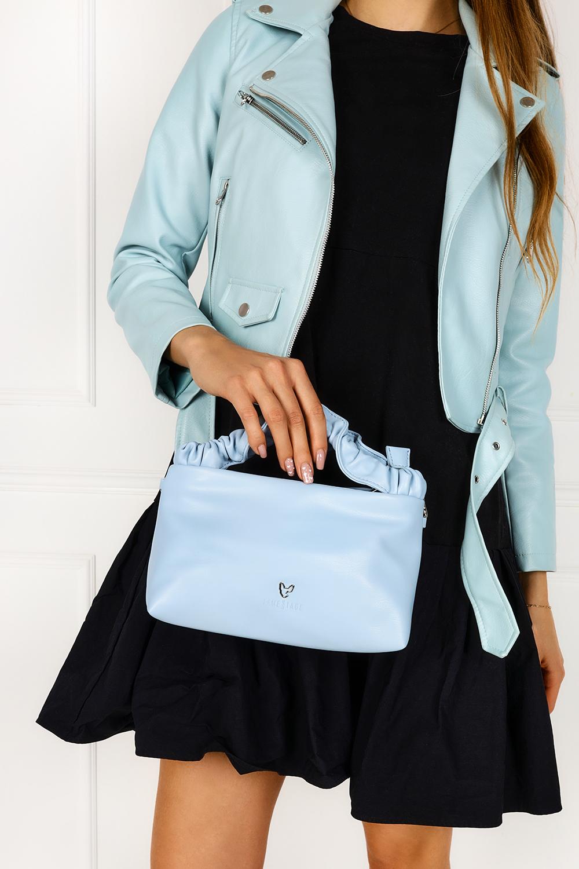 Niebieska torebka wizytowa na łańcuszku Femestage BAG0580-012