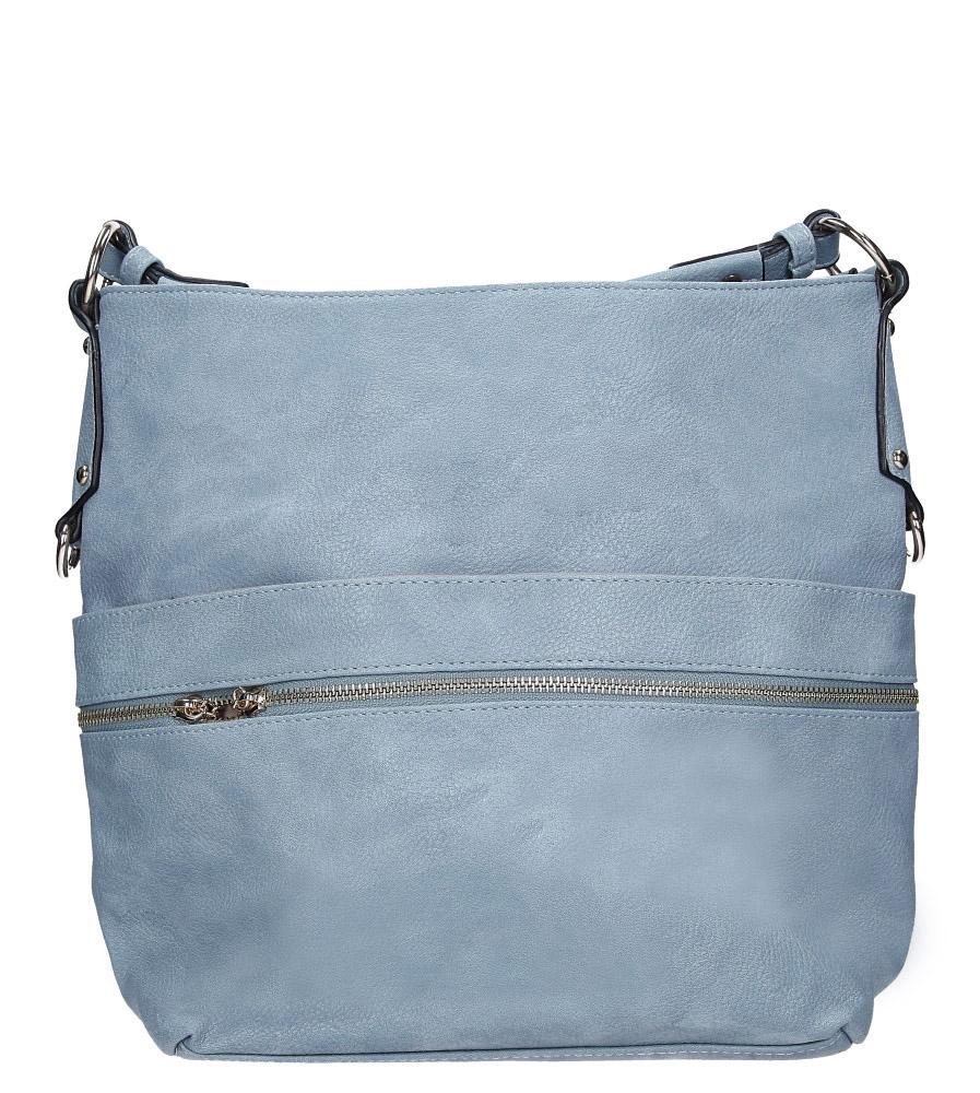 Niebieska torebka z ozdobnym suwakiem i frędzlami Casu AC-90