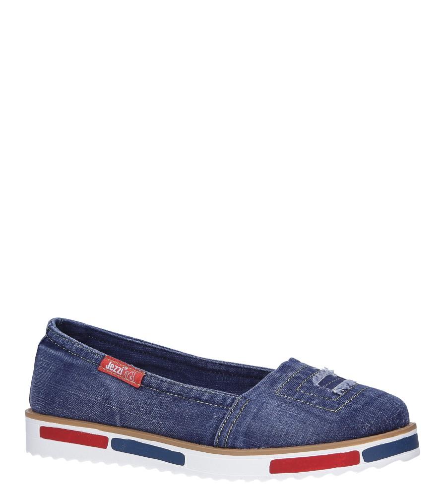 Niebieskie baleriny jeansowe Jezzi RMR1735-6